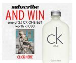 Subscribe and stand a chance to WIN 1 of 25 CK ONE Edt worth R1080   Ends 31 July 2014