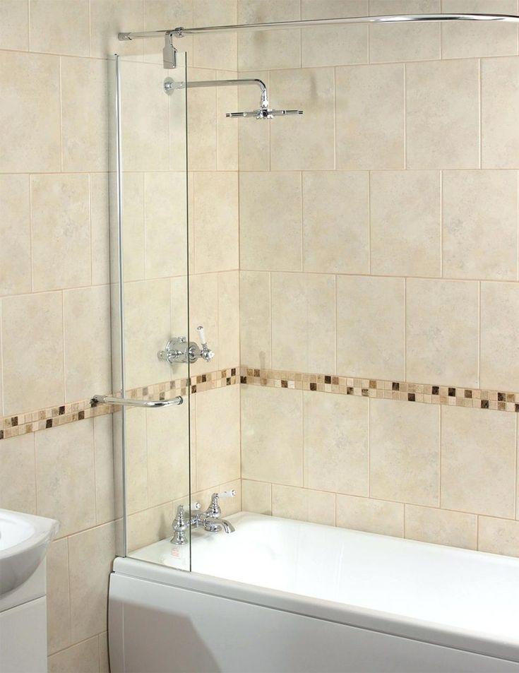 Shower Curtains: Aqua 6 Splash Guard With Rail Croydex Shower Curtain Drip  Guard Clip Bathroom