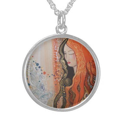 Silver Necklace Ginger Lady Elegant Art Nouveau