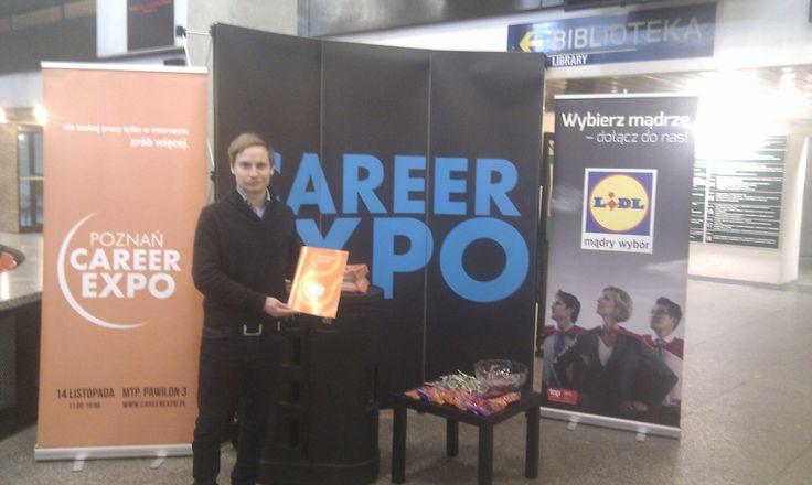 Career EXPO promowane jest również na uczelniach. Na standzie promocyjnym możecie dostać broszurę targową i super gadżety!