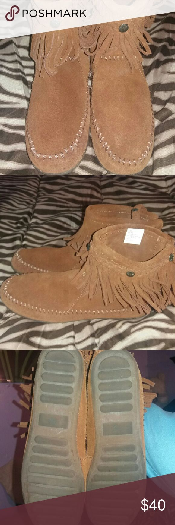 Suede mocaccins ankle booties Mocaccins mocassins  Shoes Ankle Boots & Booties