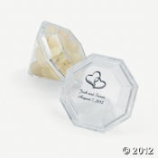 personalized diamond shaped boxes for party favors
