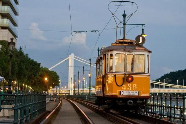 An old tram in Budapest