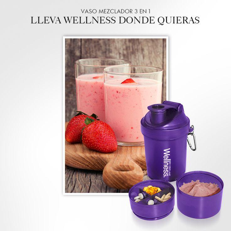 ¿Pasas de la oficina a ejercitar o viceversa? Entonces el nuevo Wellness Shaker simplificará tu vida porque puedes llevar todos tus productos Wellness en un mismo lugar, incluyendo el agua para tu malteada. ¡No te lo pierdas!