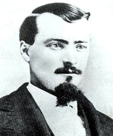 """Frank McLaury (1848-1881),Ranch hand & member of a group of outlaw cowboysthat faced off against lawmen,Virlil,Wyatt& morgan earp at the gunfight at OK corral during which he was killed. He was by all accounts not a gunfighter,this was his first confrontation. He was 5'4"""" & his brother Tom 5""""3""""."""