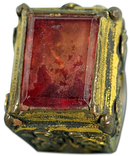 Ring of Pope Sixtus IV. Gilt bronze and rock crystal, Central Italy, 1471–1484