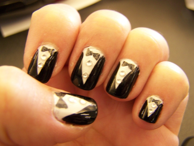 My tux nails for graduation - 14 Best Graduation Nails Images On Pinterest Graduation Ideas