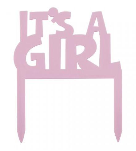"""Caketopper """"it's a girl!""""  Para tornar o momento mais divertido quando der """"a grande novidade""""! Visite: http://simdesignme.wixsite.com/2014/comp-pequenos Para mais info: sim.design.me@gmail.com"""
