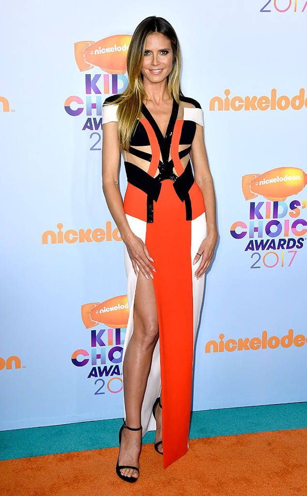 Heidi Klum from Kids' Choice Awards 2017: Red Carpet Arrivals  Is it hot in here or it just us? The veteran catwalk queen never fails to dominate the red carpet.