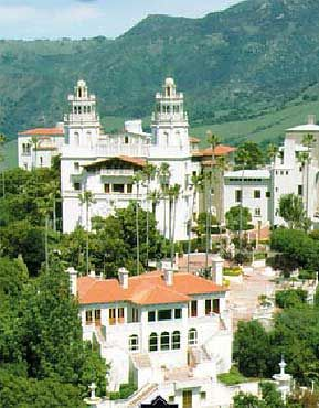 Hearst Castle, San SImeon, Ca.  Been there, its gorgeous and said to be haunted by Marion Davies..