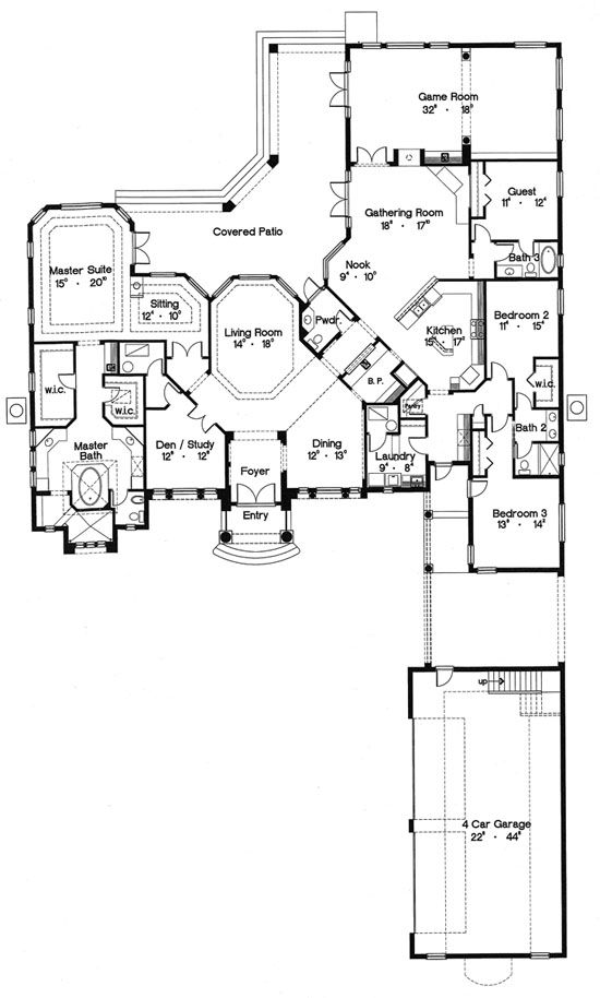 Florida Mediterranean House Plan 64705 House Plans