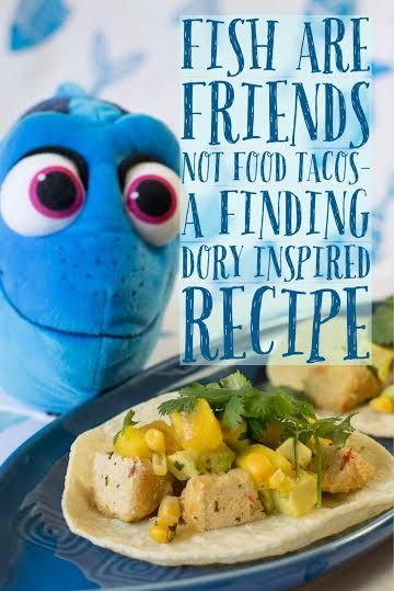 Commemorating the release of Finding Dory, the Geeks have created a vegan taco recipe featuring Gardein Crabless Cakes http://2geekswhoeat.com #tacos #Pixar #FindingDory