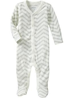 Printed Footed One-Pieces for Baby, Old Navy: $12.94: Chevron Sleeper, Babies, Chevron Onesie, Baby Boys Stuff,  Jammi, Baby Clothing, Gender Neutral, New Baby, Old Navy
