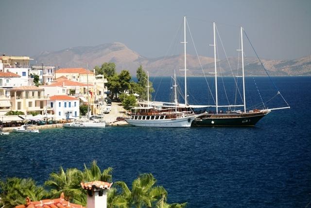 Mandrakia where many large boats dock.