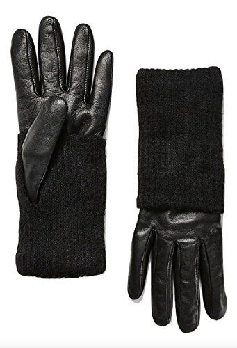 41dc3310c Women's Leather with Knit Gloves   Fashion Style Outfits   Knitted ...