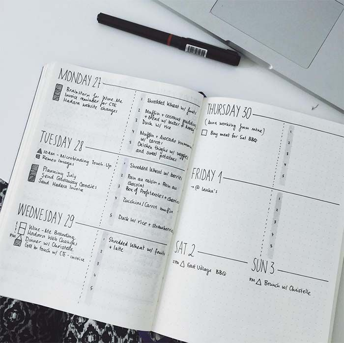 Minimalistic Bullet Journal with simple and functional ...