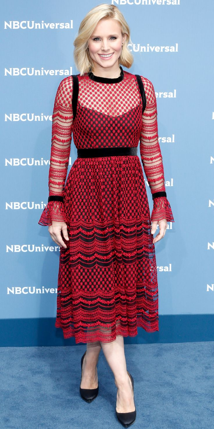 15 of Birthday Girl Kristen Bell's Smokin' Hot Red Carpet Moments - At the 2016 NBC Universal upfronts from InStyle.com