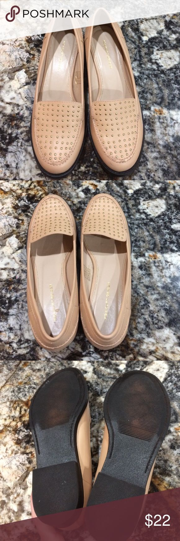 Kurt Geiger studded leather loafers never worn Kurt Geiger studded loafers never worn but scratched from storage.  See photos. Leather Kurt Geiger Shoes Flats & Loafers