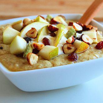 Porridge Poire Raisins Epices