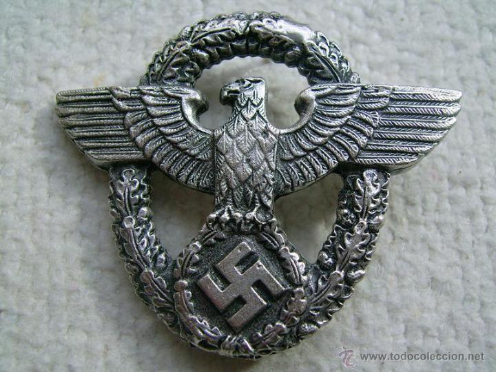 Insignia de gorra de Gestapo. III Reich. 2ª Guerra Mundial. 1939-1945. Alemania - Foto 1