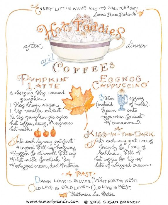 Hot Toddies | Susan Branch Blog