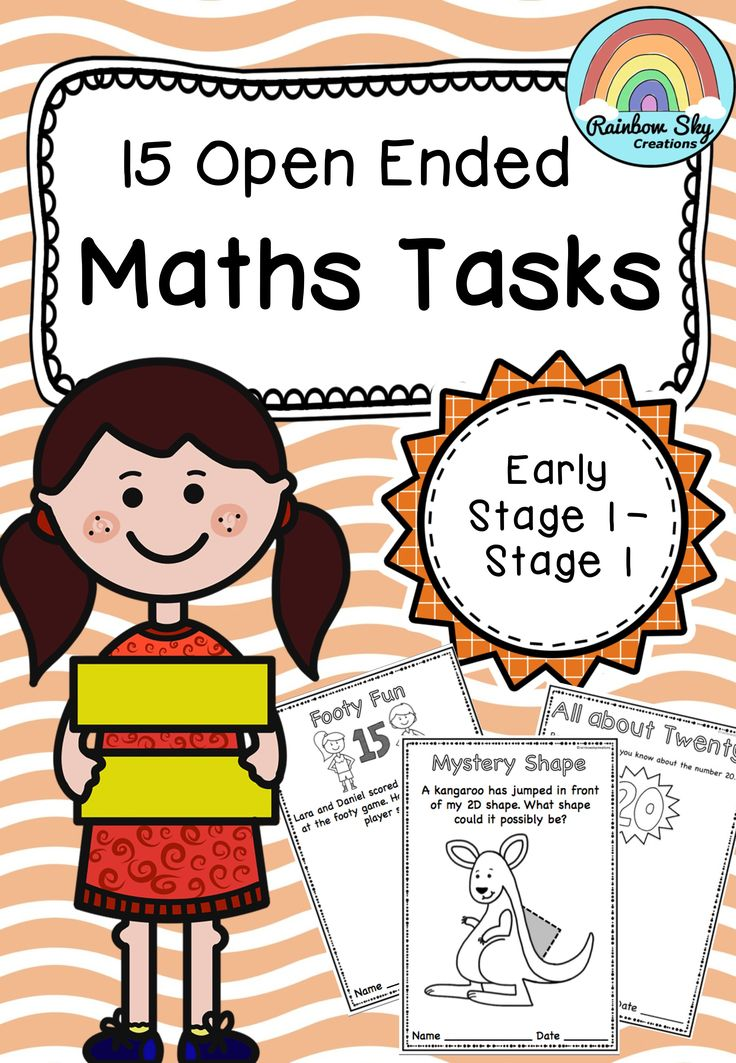 15 Open Ended Maths tasks suited to students in Kindergarten/Foundation (extension), Year 1 and Year 2. Each question has a range of answers and students are encouraged to find more than one each time they tackle a problem. ~ Rainbow Sky Creations ~