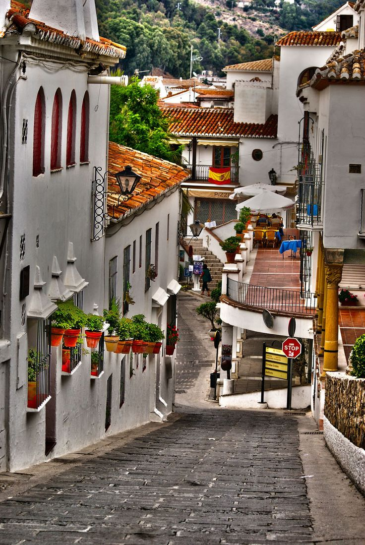 Mijas, Malaga#spain. All the buildings are white, it's a beautiful place to visit!