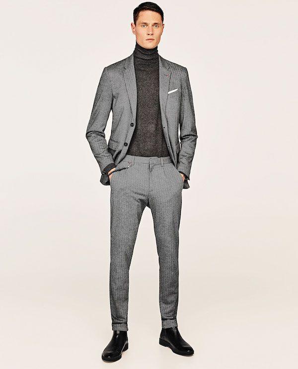 ... Traje gris Zara Otoño Invierno 2018 Hombre Catálogo ... 93feb93e271