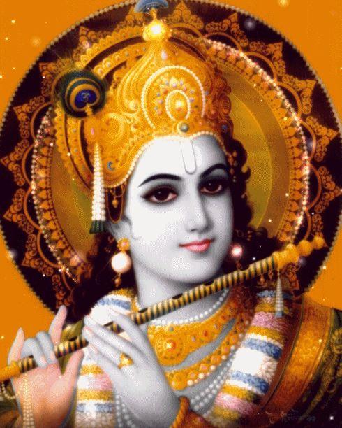 Krishna Vrindavana Chandra Digitally enhanced artwork by Vishnu108.