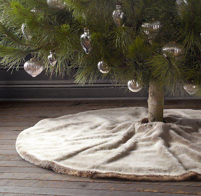 Luxe Faux Fur Tree Skirt Was $55/$44 Restoration Hardware