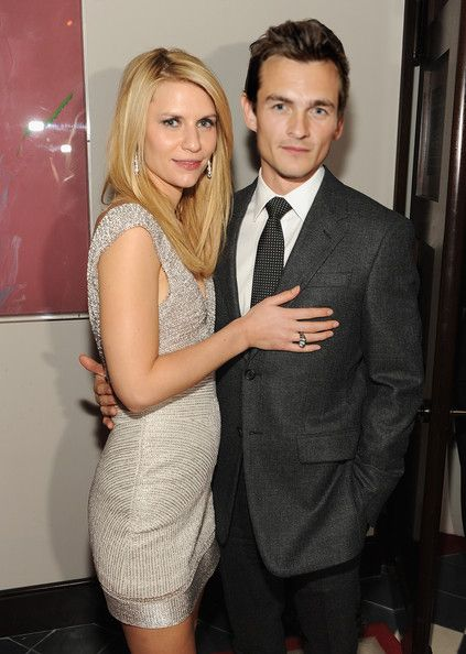 Photo of Rupert Friend  & his friend Claire  Danes