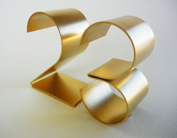 Metal table numbers freestanding for by gaugenyc on Etsy, $10.00