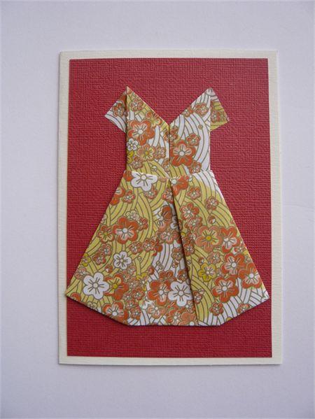 """ ORIGAMI DRESS "" Greeting Card"