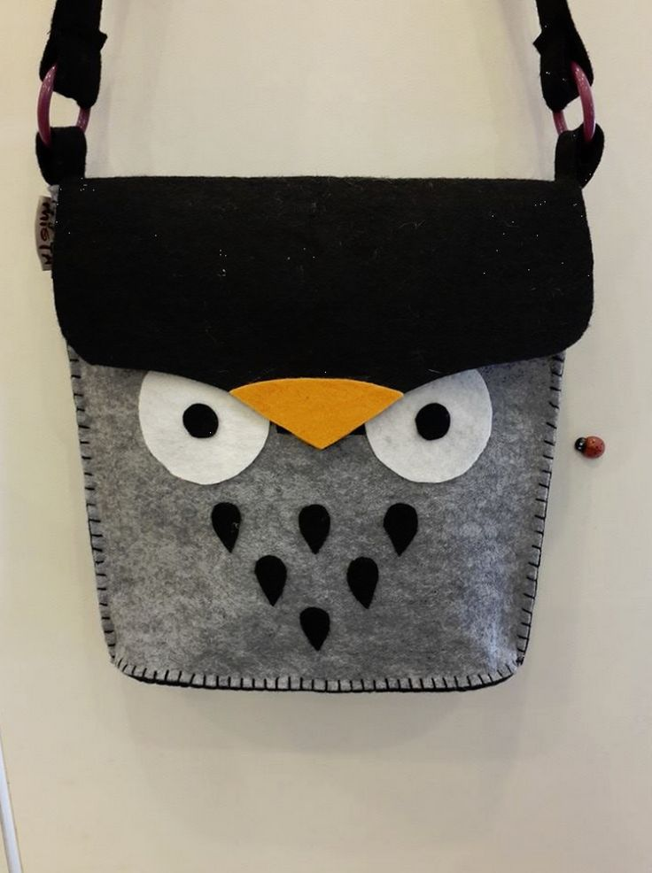 felt owl bag, so cute.