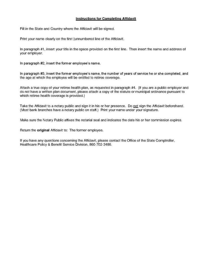 Affidavit of Service Templates, Service, Instruction