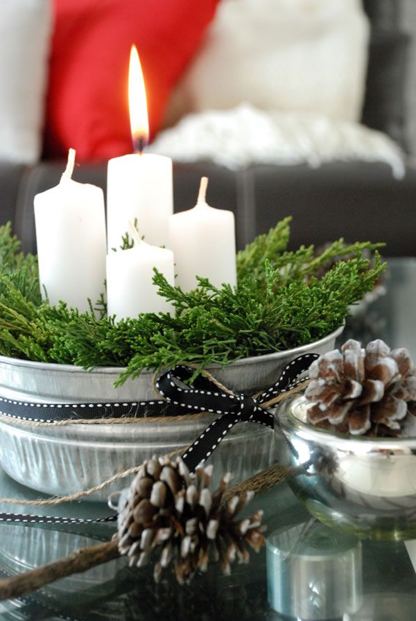 DIY advent candles. Nuestra alternativa a la corona de adviento - Casa Haus - Decoración: