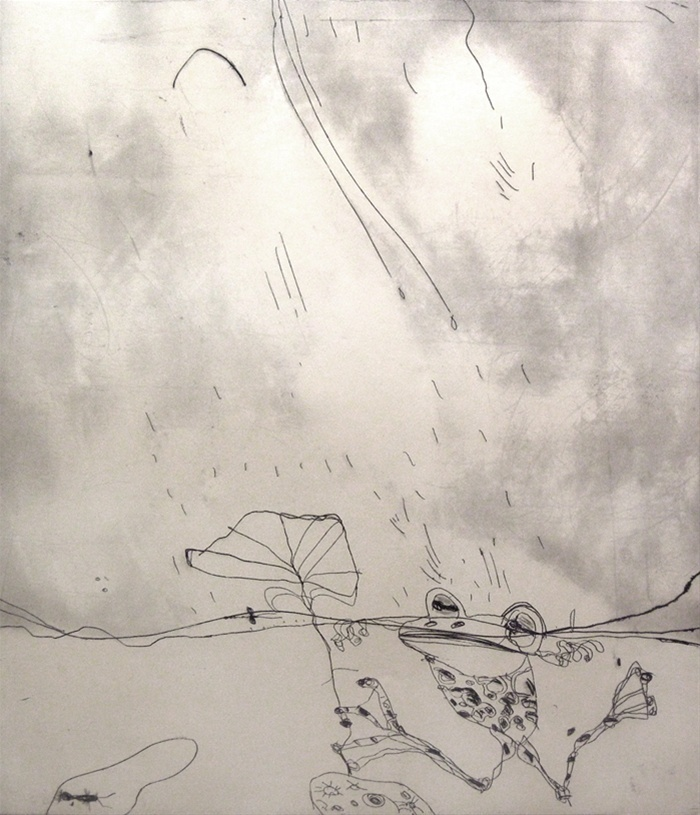 Frog in the Rain by John Olsen