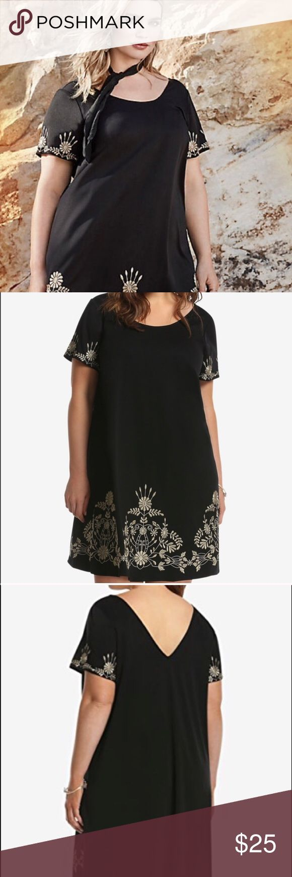 Online exclusive torrid dress Worn once. It's beautiful! Perfect for a holiday party. Torrid size 1 torrid Dresses