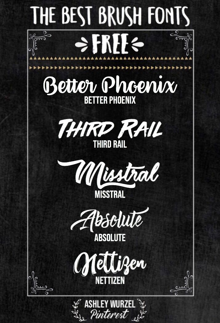The Best Brush Script Fonts I Put These Fonts Together So That