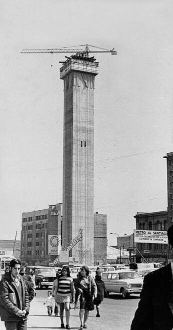 Torre Entel a comienzos de los 70'