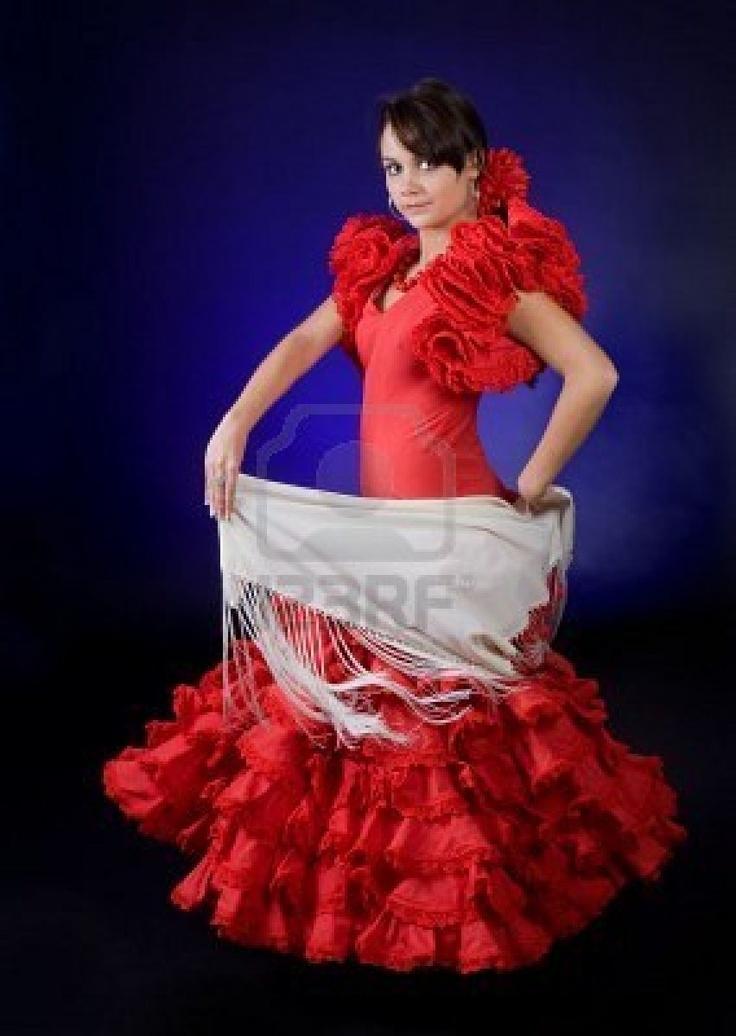 red flamenco dress  sc 1 st  Pinterest & 16 best Flamenco Dress images on Pinterest | Flamenco dresses Spain ...