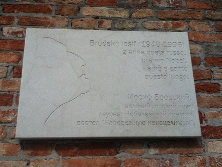 Brodskij Iosif (1940-1996) grande poeta russo, amò e cantò questo luogo.  Fondamenta Zattere agli Incurabili, Venezia  (per @Marco Manicardi)