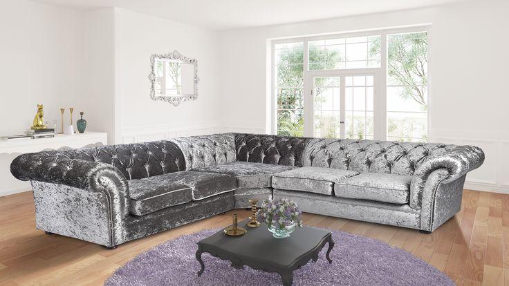 crushed velvet corner sofa handmade dewsbury chesterfield rh myhomedesign 000webhostapp com