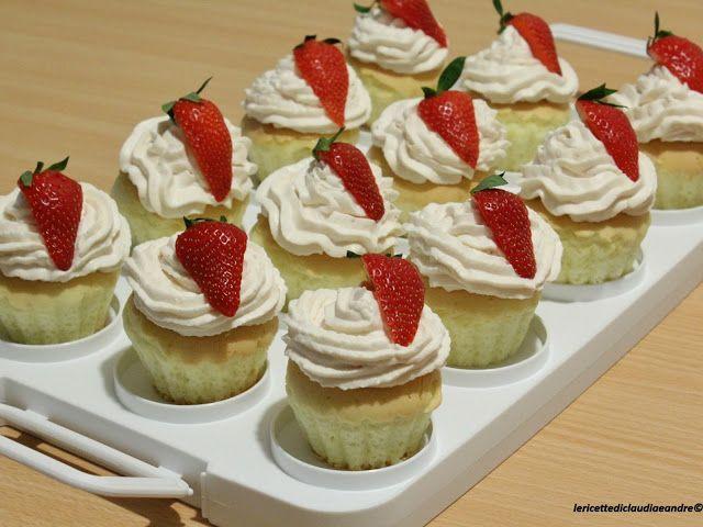 Le    ricette    di    Claudia  &   Andre : Cupcake senza glutine con crema alle fragole