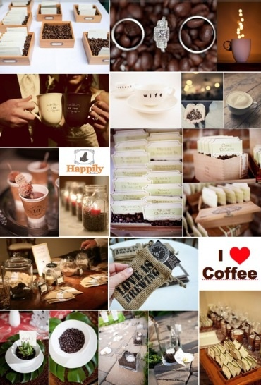 Coffee wedding theme may be a bit much but I do like a lot of these pictures!!