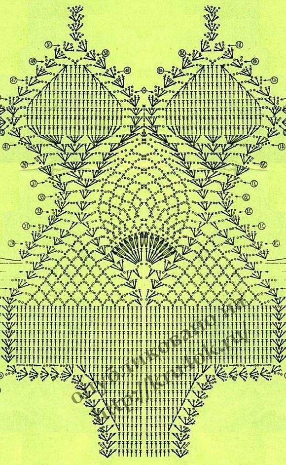 1 pièce crochet bikini wear diagram only! Enjoy repinning!!! ♥♥♥