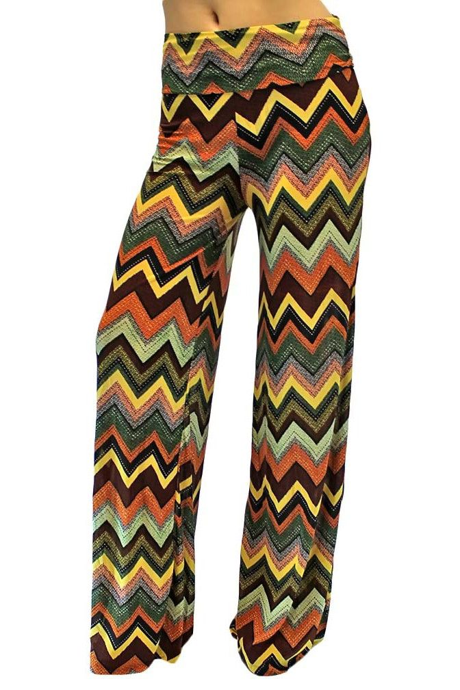 Chevron Print Long Gaucho Boho Flare Palazzo Pants | wish list ...