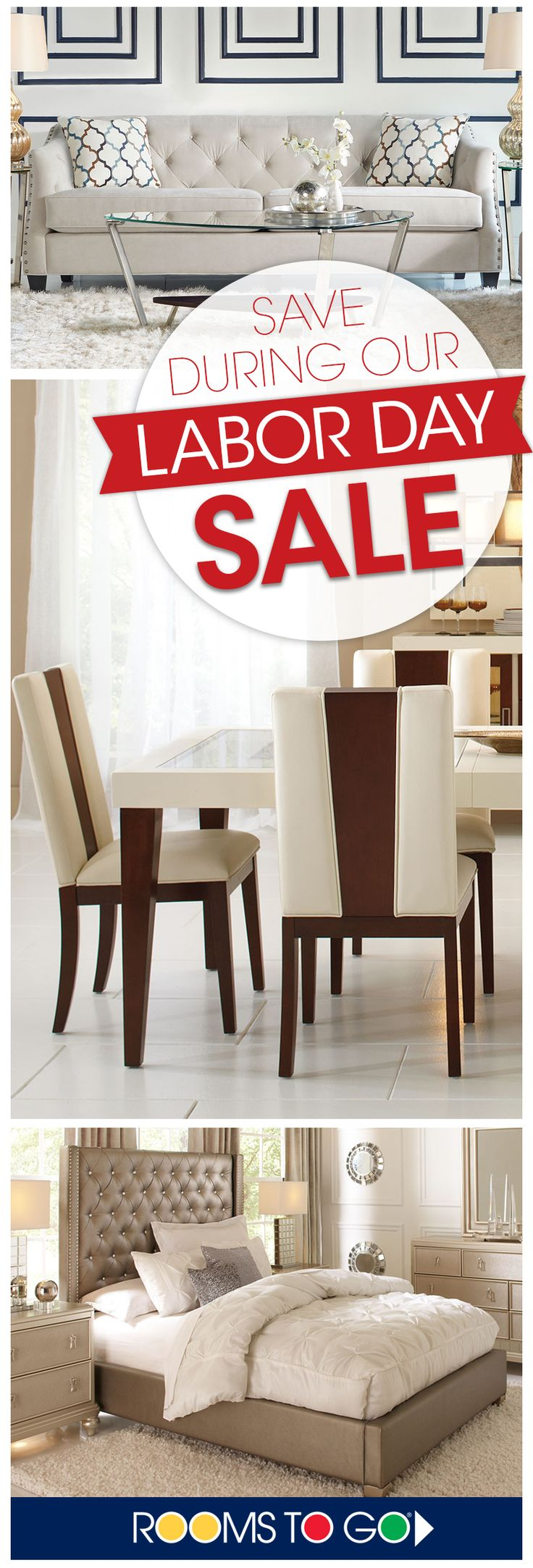 Visit Rooms To Go now during our Labor Day Sale and save