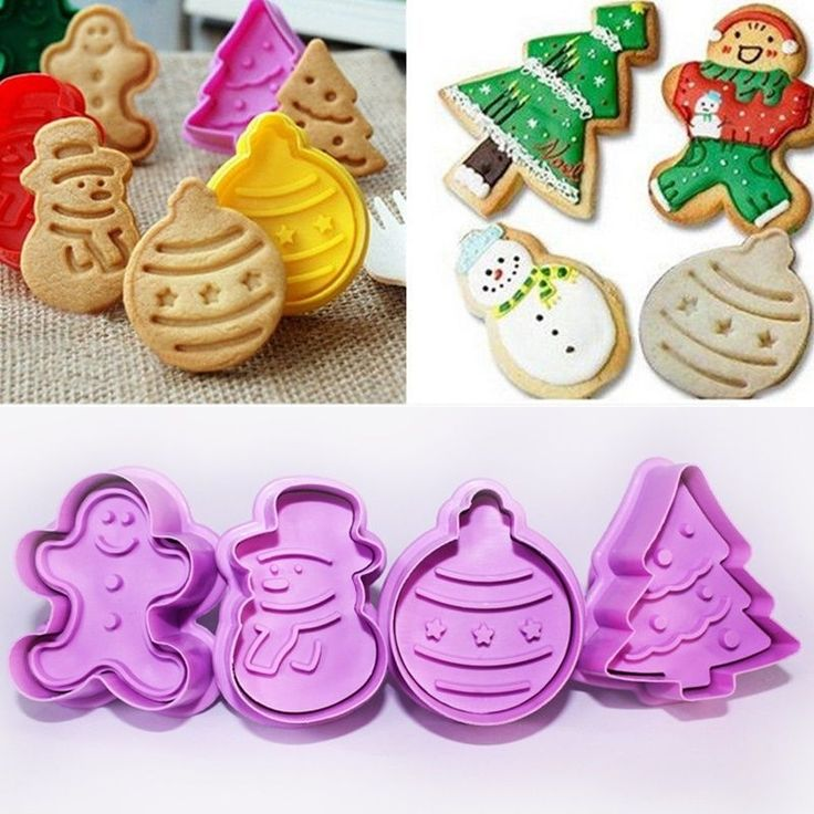 4Pcs/Set Christmas Cookie Biscuit  Cutter