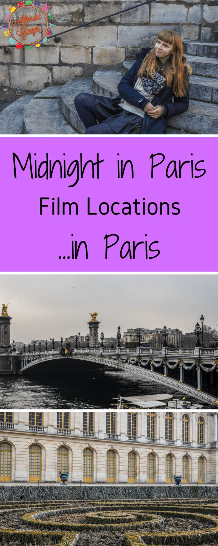 Midnight in Paris Film Locations in Paris include the Moulin Rouge, Sacre Coeur, Shakespeare and Company Bookshop, Pont de Alexandre III, Palace of Versailles, Giverny, Maxim's, and so many others as Midnight in Paris Filming Locations | Paris Film Locations | almostginger.com
